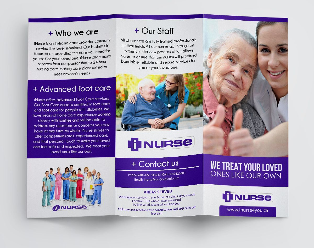 Inurse trifold brochure brochure trifold brochure