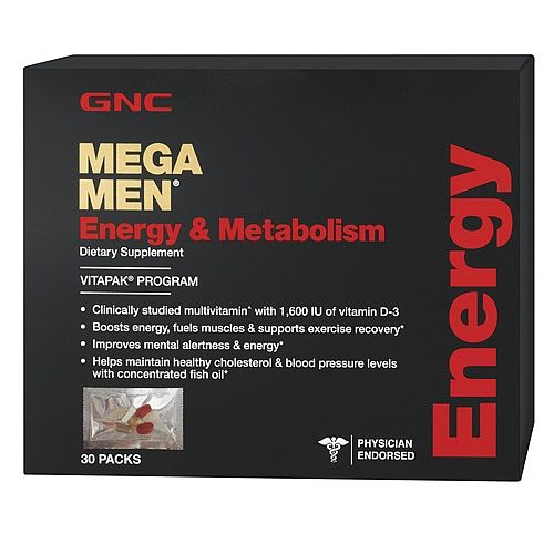 Gnc Mega Men Energy Metabolism Healthy Cholesterol Levels