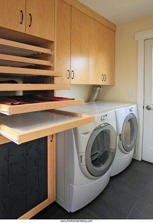 Built In Drying Racks Laundryroom