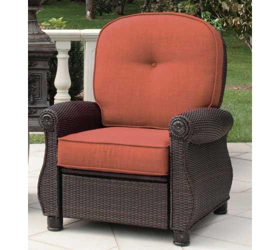 Beau La Z Boy Outdoor Breckenridge Patio Recliner In Brick Red