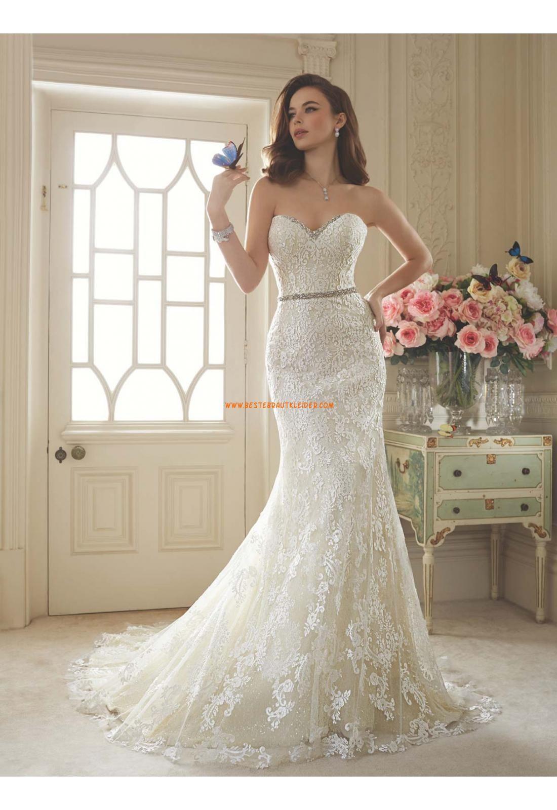 Herz-ausschnitt Meerjungfrau Wunderschöne Brautkleider aus Softnetz ...