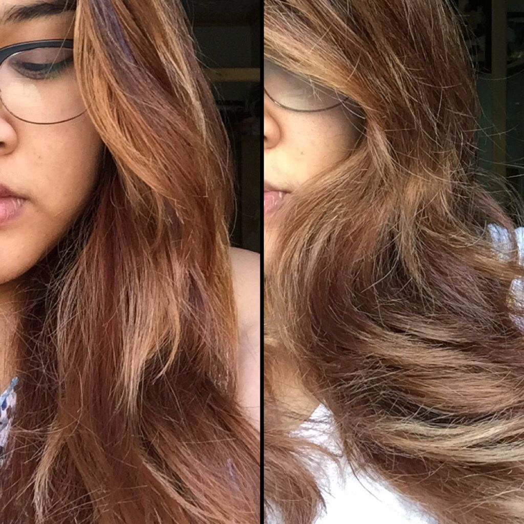 how to get purple toner out of brown hair