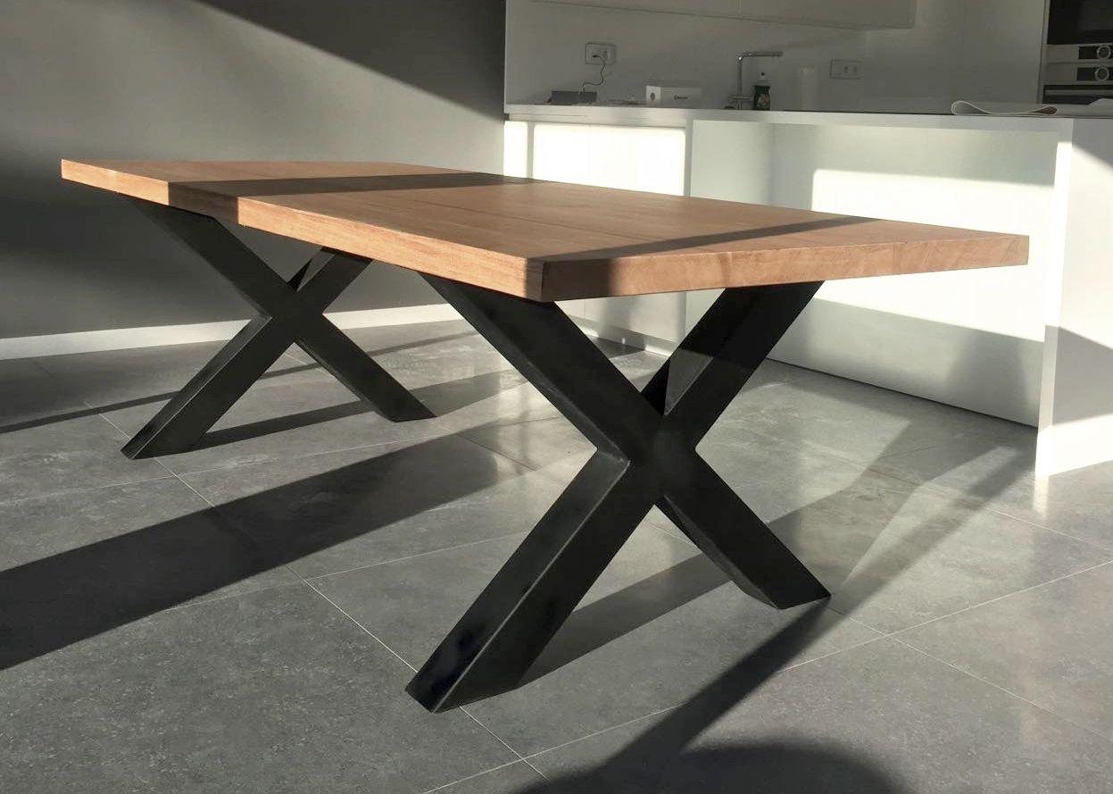 Mesa estilo industrial de niang n muebles fabricados a - Mesa de pino ...