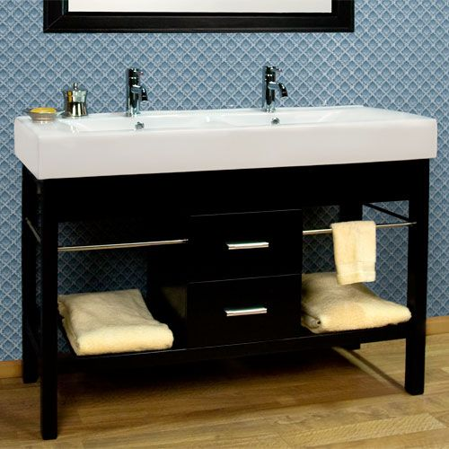 48 Quot Manhattan Double Console Vanity Cabinet Trough Sink Bathroom Bathroom Sink