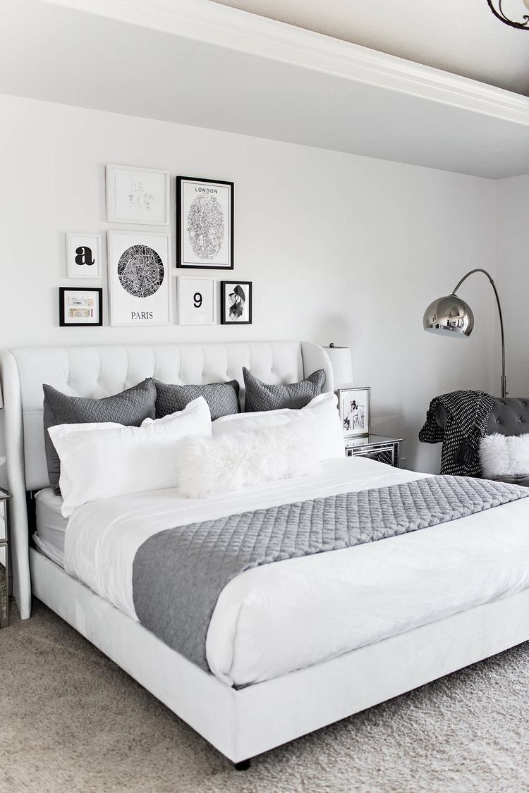 White master bedroom decor  Bedroom  HOME Bedroom  Pinterest  Bedrooms Room and Master bedroom