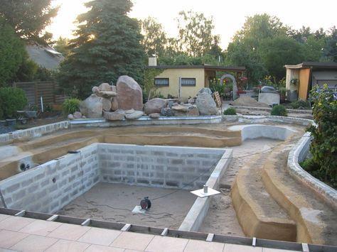 diy schwimmteich selber bauen POOL Pinterest Garden pool - schwimmbad selber bauen