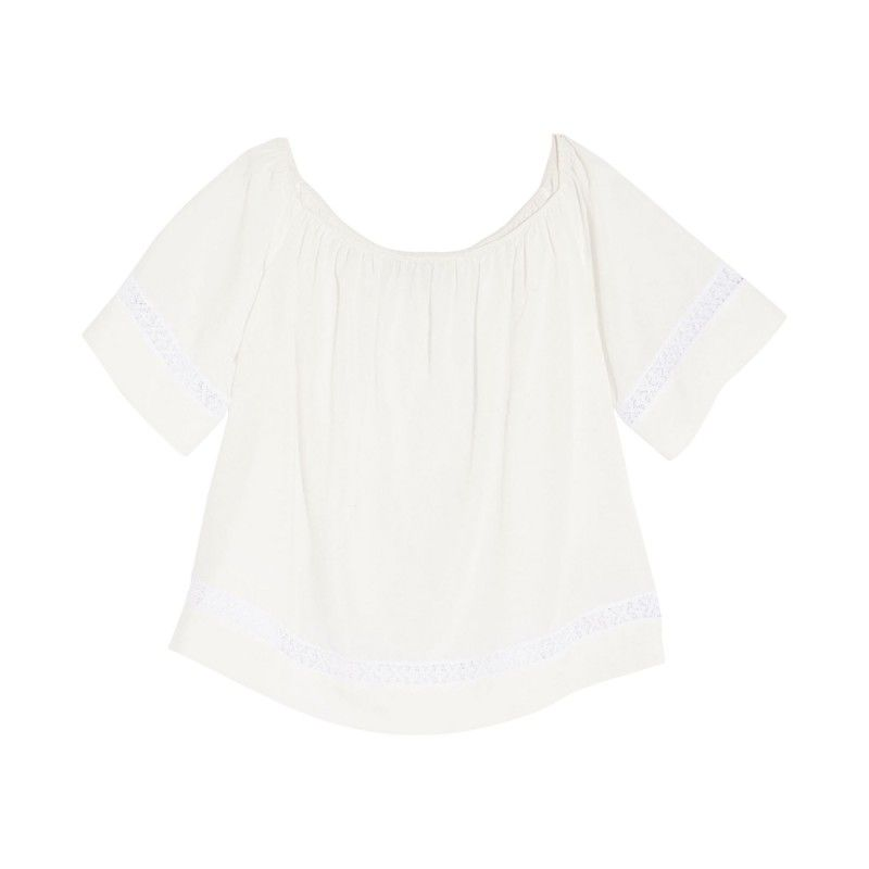 Otte New York Peasant Top - White Boxy Top - ShopBAZAAR