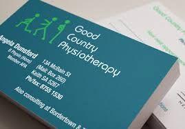 Physiotherapist Business Card Design Australia Google Search Business Cards Business Card Design Card Design