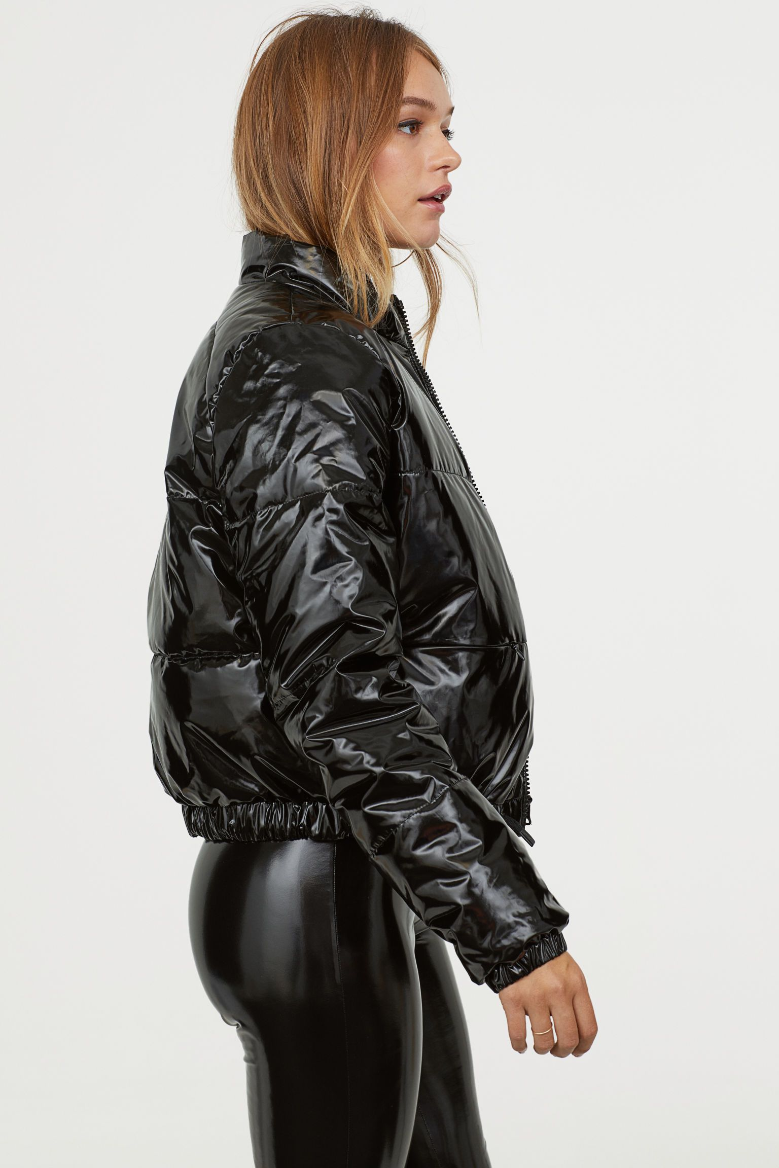 Padded Jacket Padded jacket, Leather leggings outfit