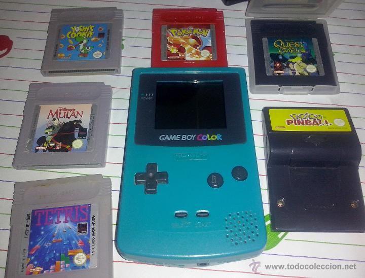 Game Boy Pocket Color Lote Consola Verde Esmeralda 6 Juegos