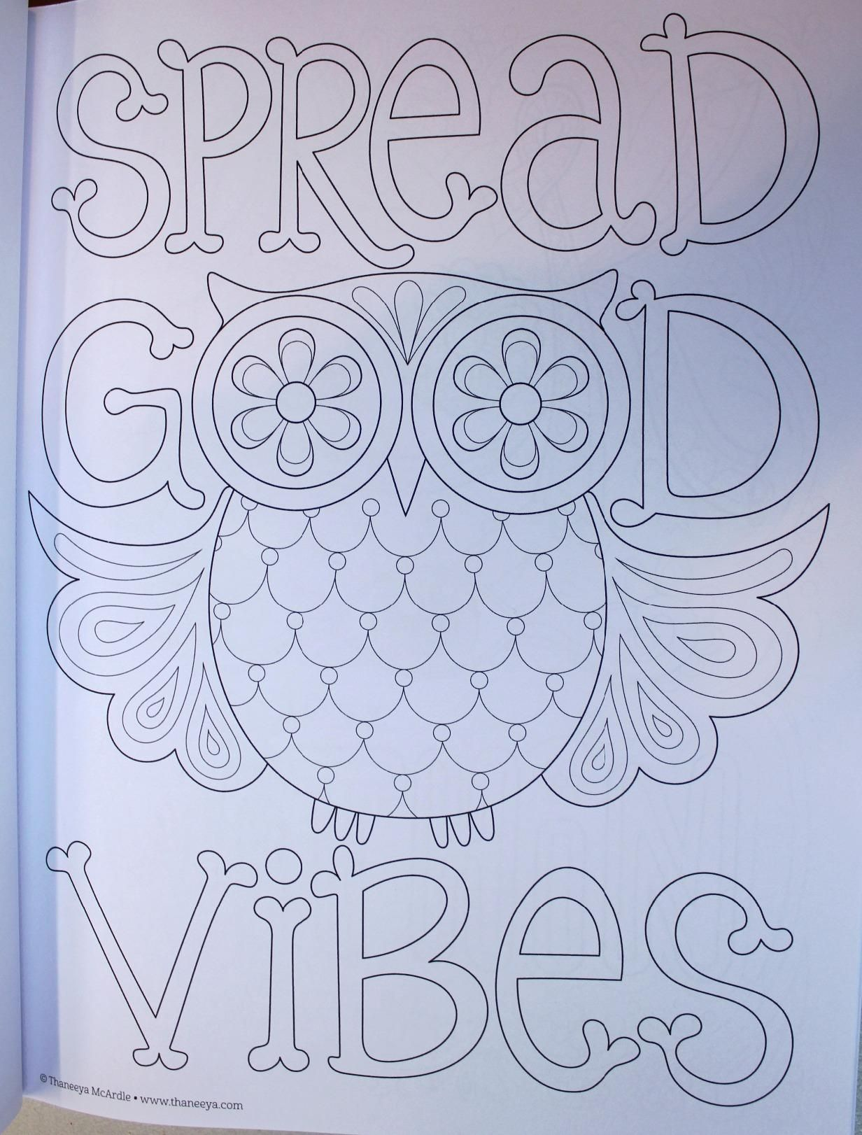 Good Vibes Coloring Book Is Fun Thaneeya McArdle 9781574219951 Amazon