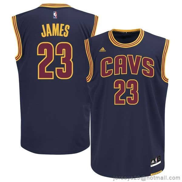 half off 74f88 3c892 Men's Cleveland Cavaliers LeBron James adidas Navy Blue ...