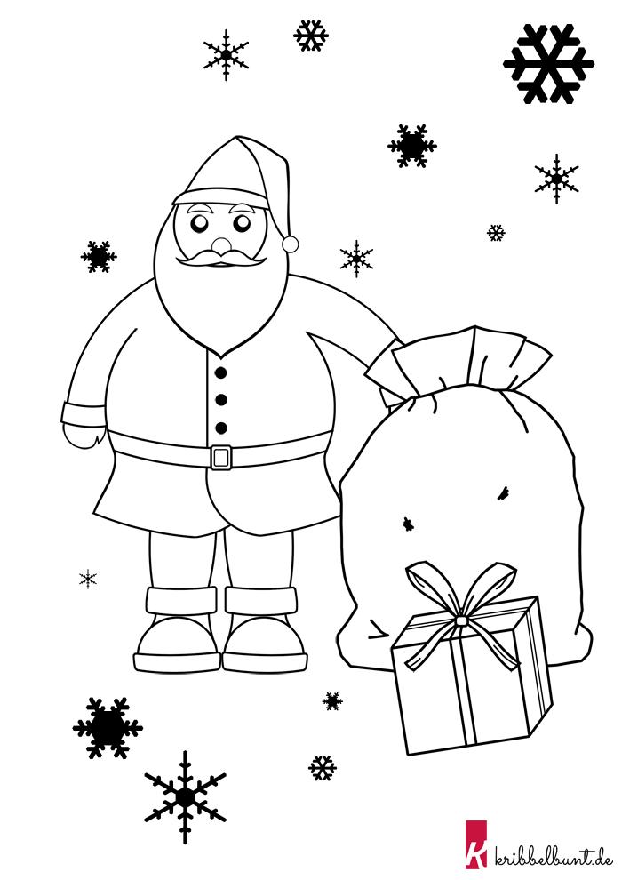 Diese Weihnachtsmann Vorlage Im Pdf Format