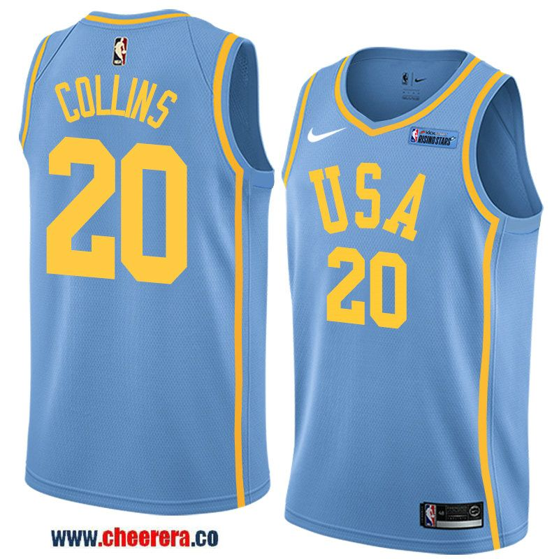 e9a2c3679 2018 nba all-star rising stars challenge men s light blue atlanta hawks  20  john collins jersey- team usa