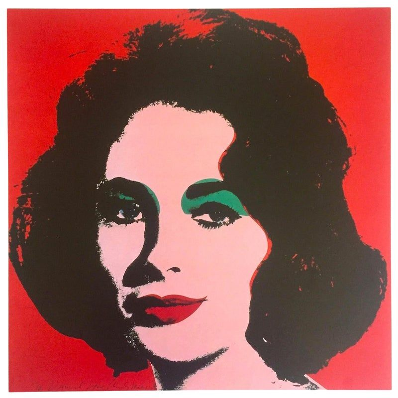 Andy Warhol Estate Rare Vintage 1989 Collector's Iconic Pop Art Lithograph Print