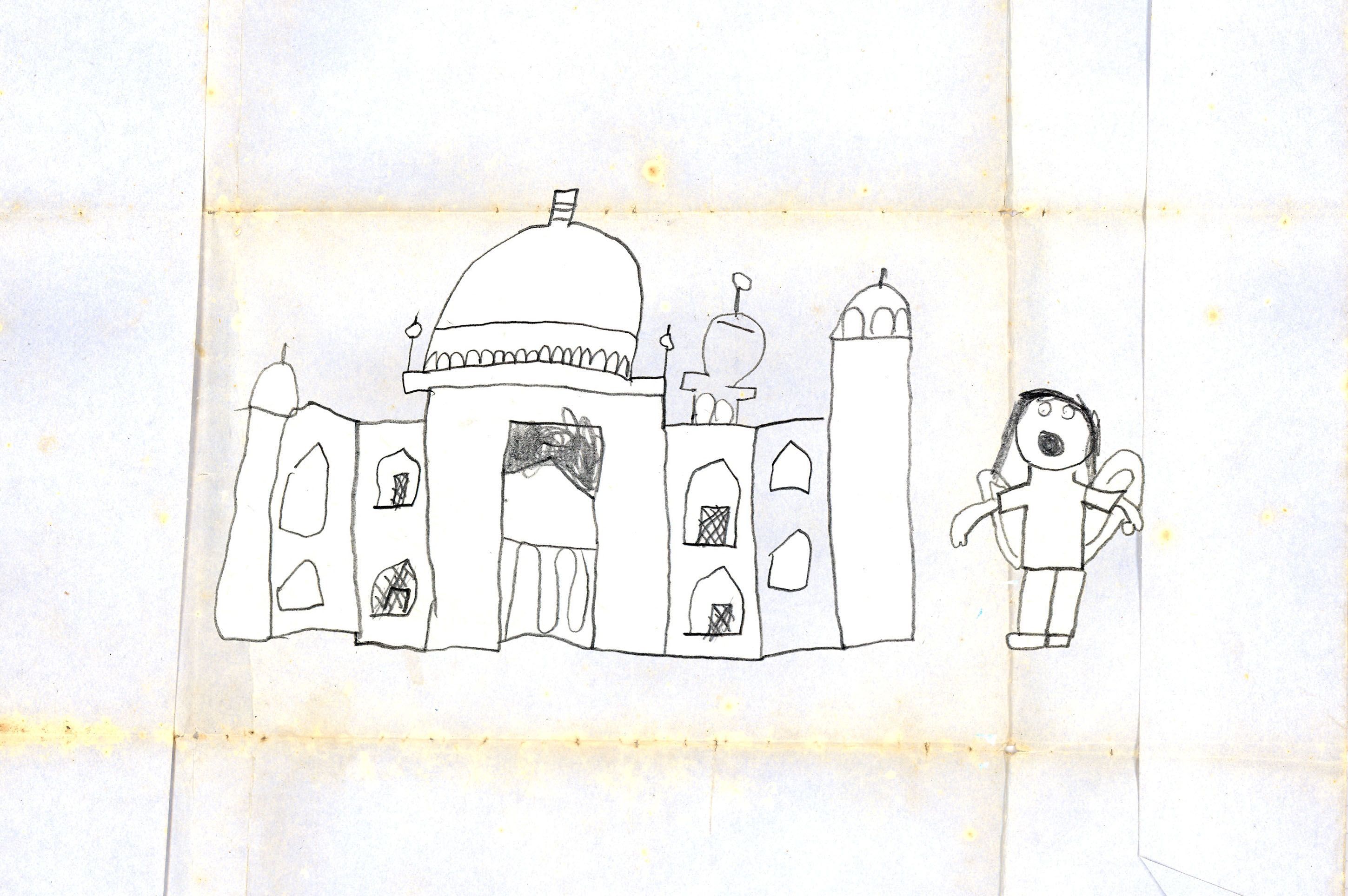 Taj Mahal by Oz aged 7