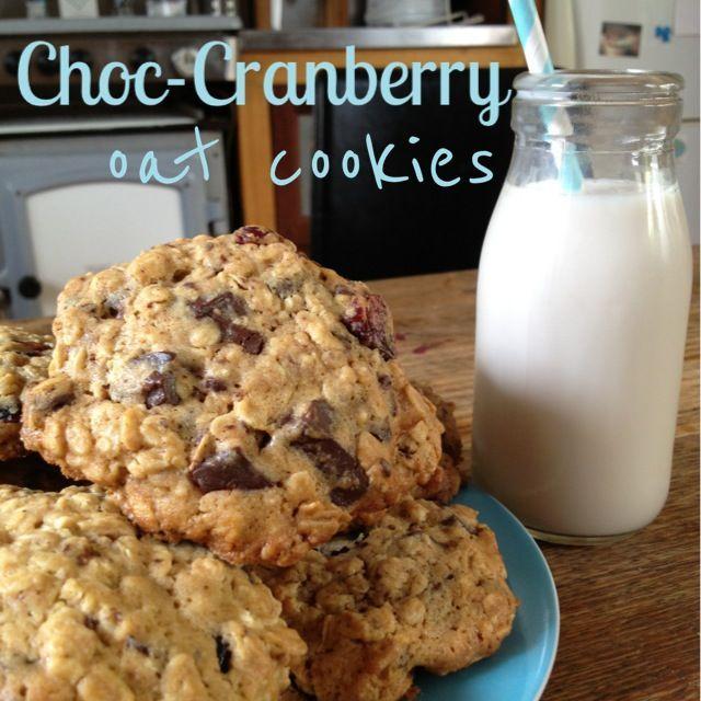 Recipe: Choc-Cranberry Oat Cookies