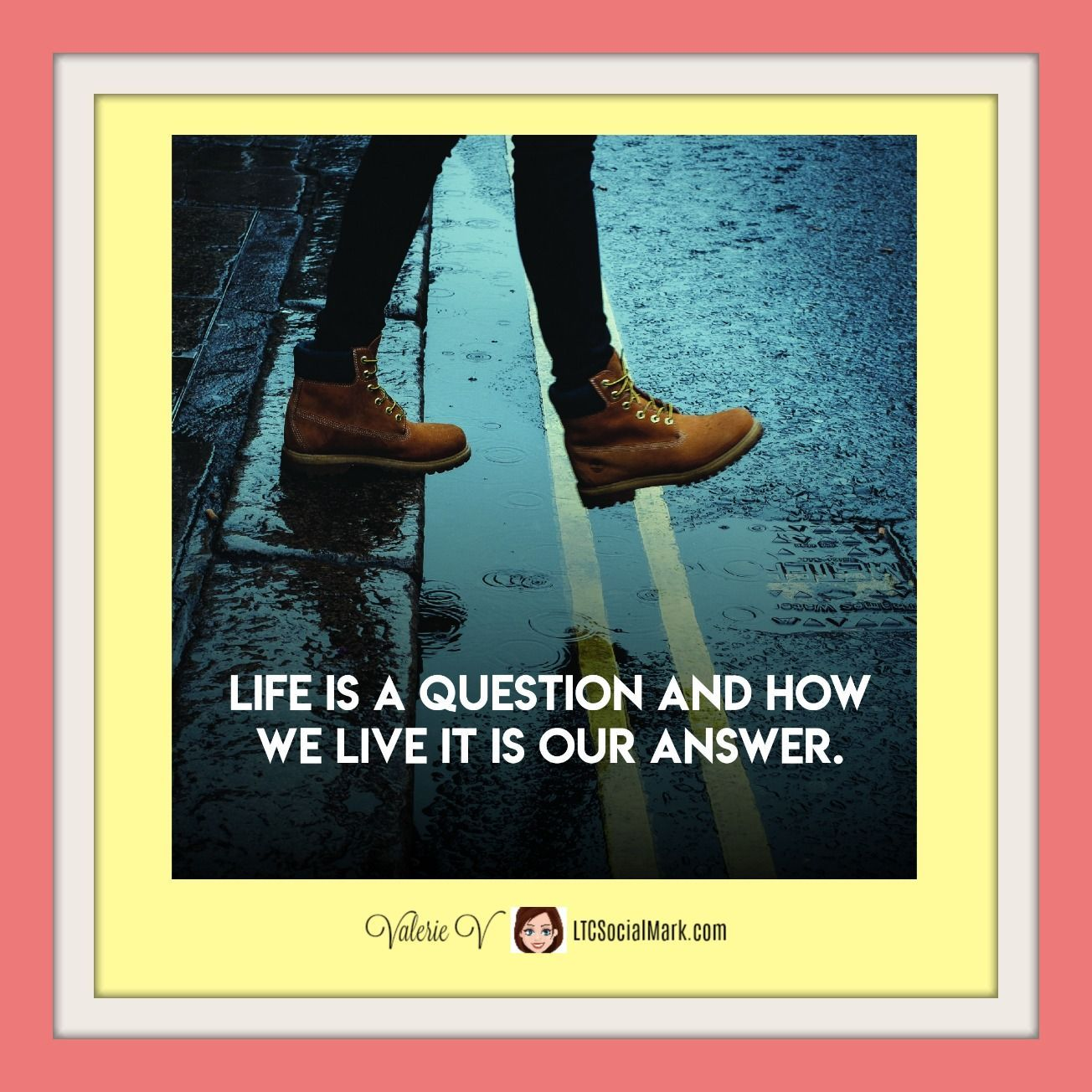 Life Is A Question And How We Live It Is Our Answer Valerievshow