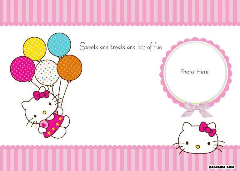 Free Hello Kitty Blank Invitation With Photo