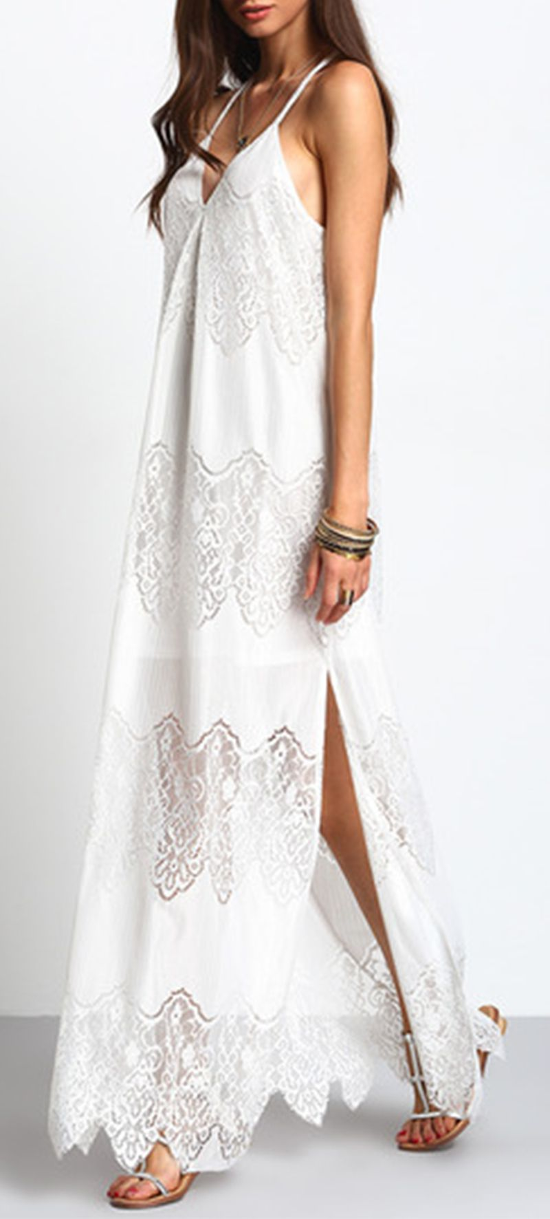Summer White Bohemian Dress