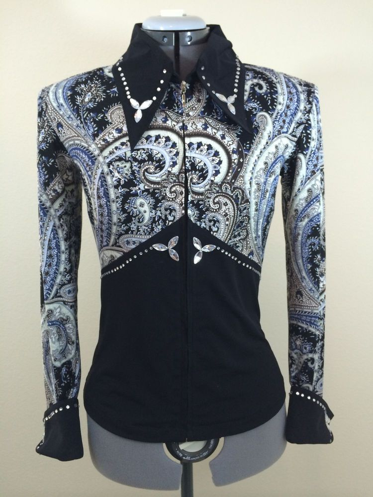 Large Western Show Pleasure Rail Shirt Jacket Clothes Showmanship Horsemanship #Equilong