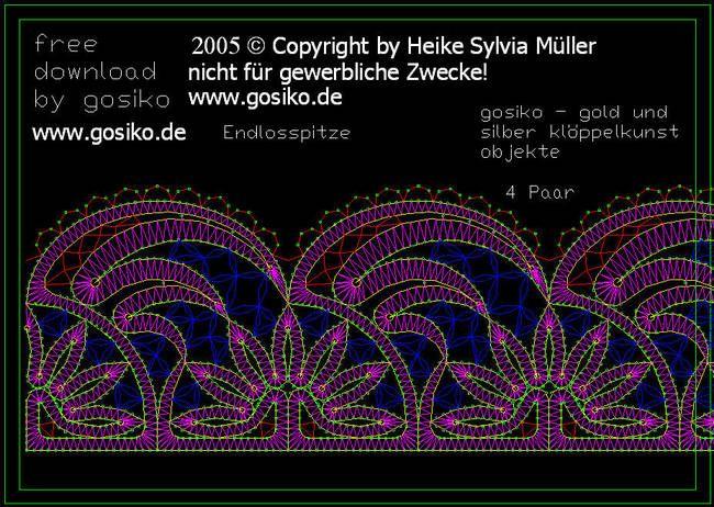 Download Kloppelbriefe Bobbin Lace Patterns Bobbin Lace Lace Patterns