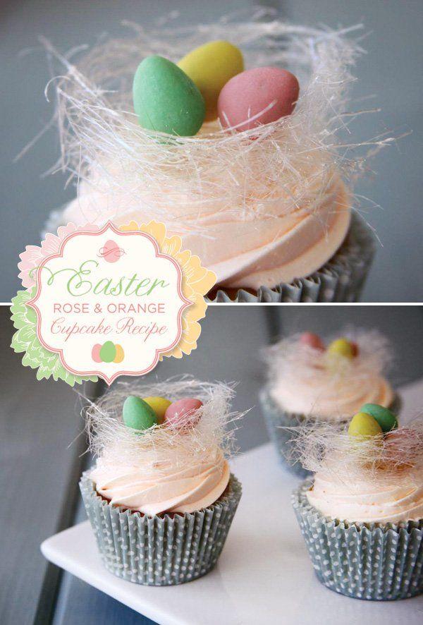 Easter Rose and Orange Cupcakes Recipe