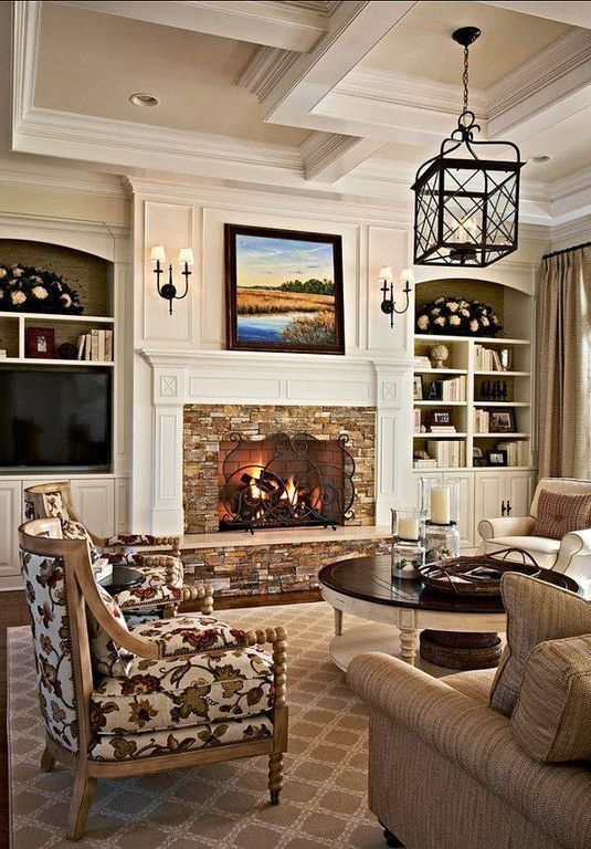 Traditional Living Room With Old Hickory Tannery Ellesworth