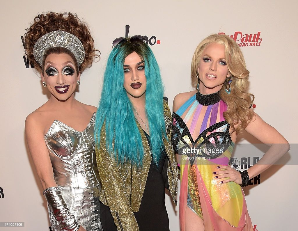 Bianca Del Rio, Adore Delano and Courtney Act attend RuPaul's Drag Race  Reunion/Finale, Courtesy Logo / WOW, at Orpheum Theatre on May 19, ...