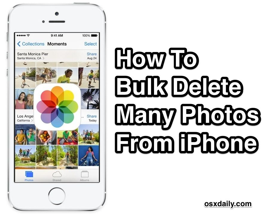 How to bulk remove many photos on iphone quickly by date