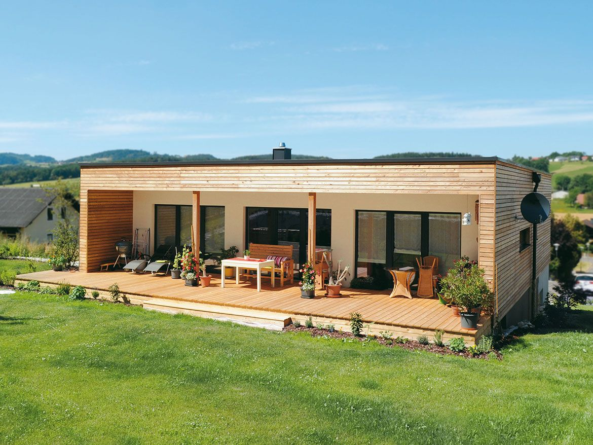 Bungalow Holzhaus Alterswohnsitz Aus Holz Small House Container House Design