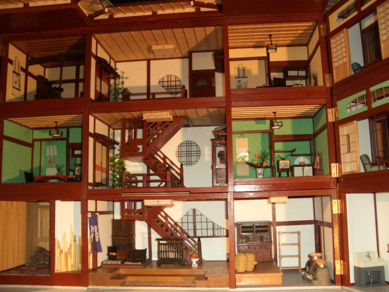 Interior View Of The Japanese Dollhouse ハウス ドールハウス