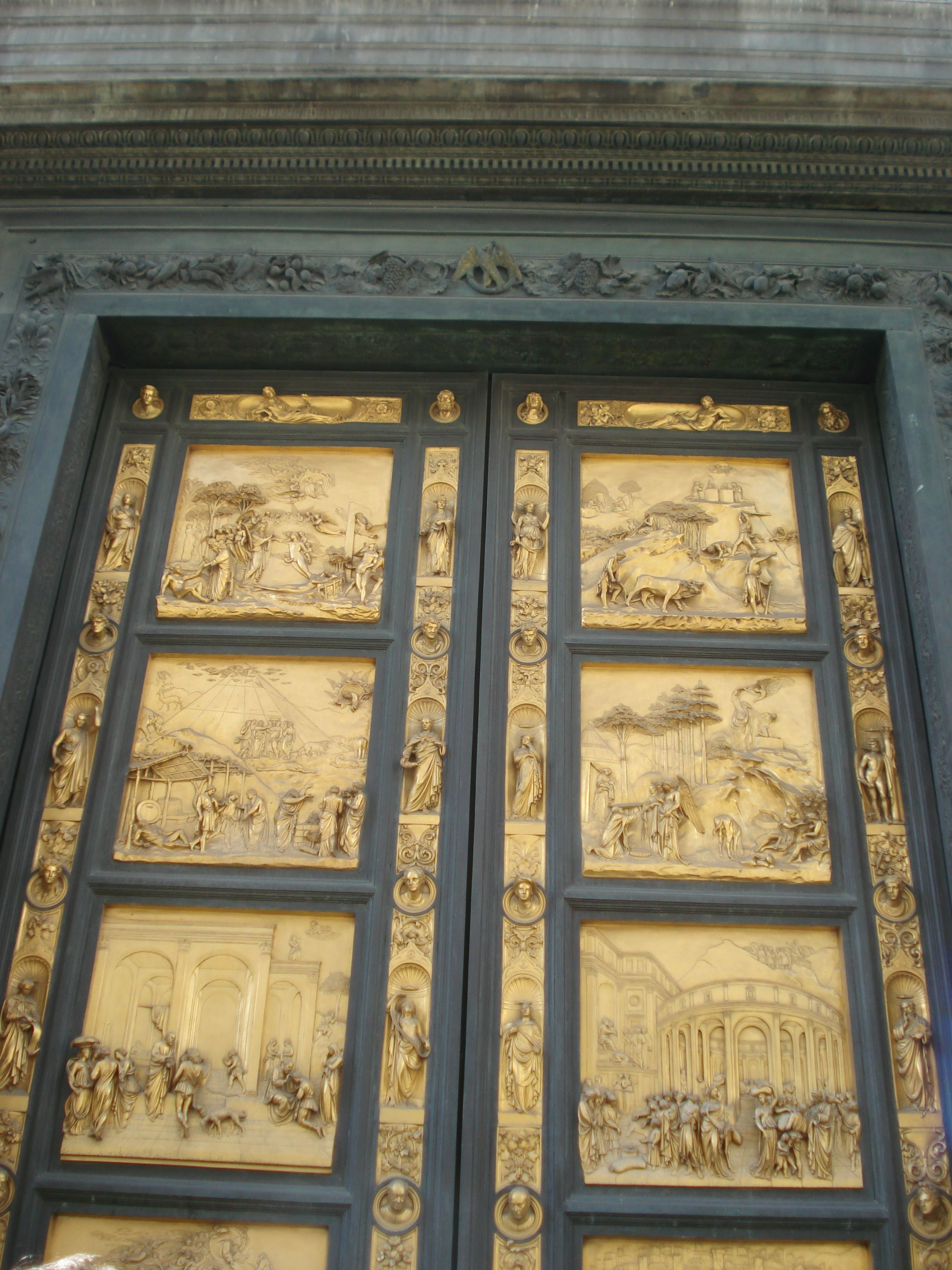 Beautiful golden doors in Florence   Florence, Scenic ...