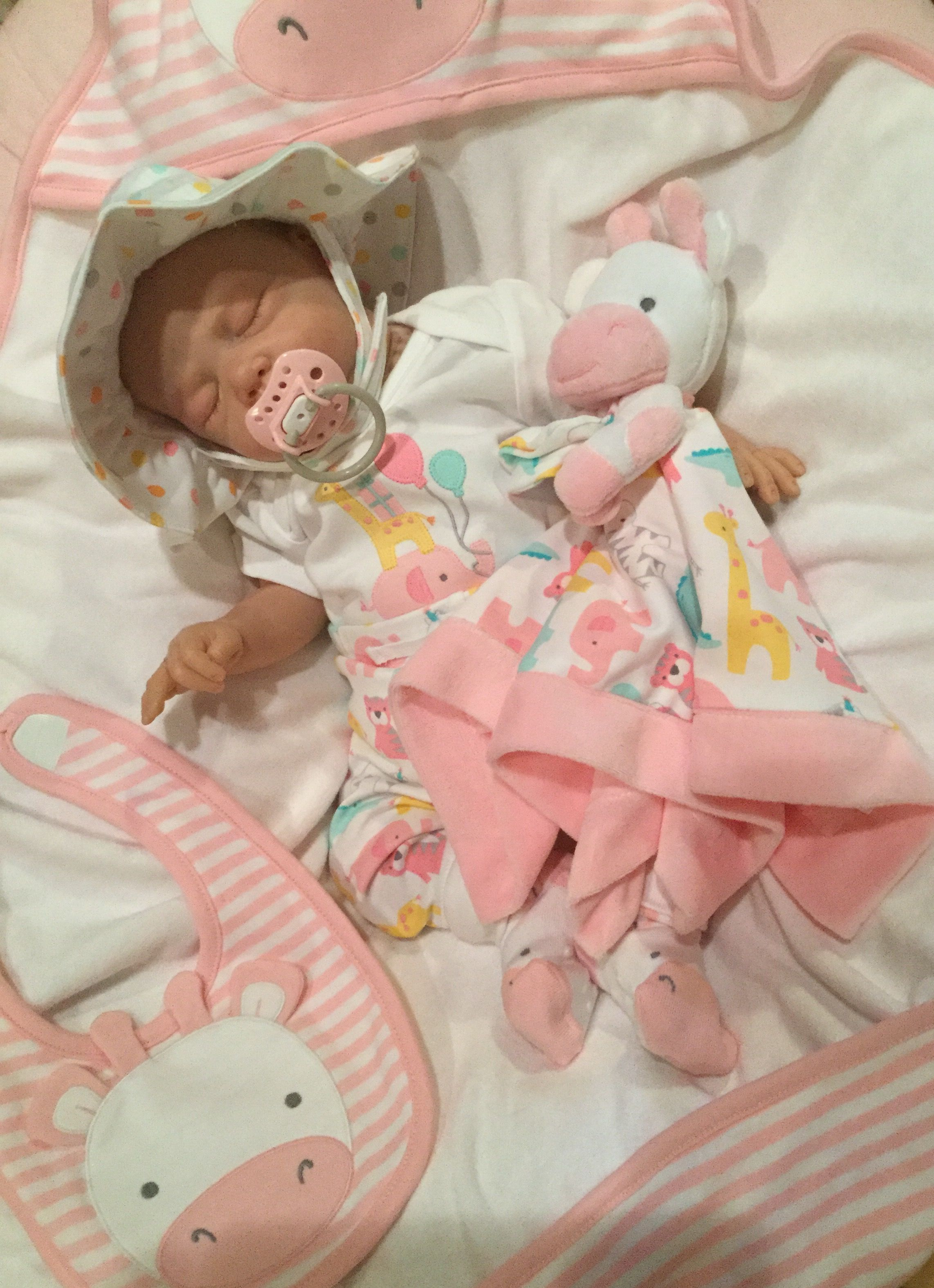 Lillie Beth, reborn baby doll, in Gymboree Animal Party Collection from Spring 2016