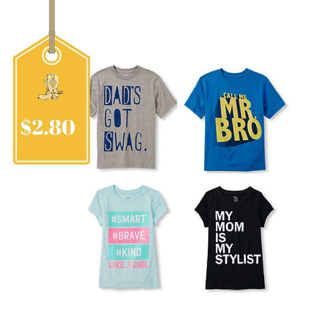 The Children s Place- 80% off all clearance + free shipping   Graphic Tees  only  2.10 shipped plus tons more! 7254bc8ee4