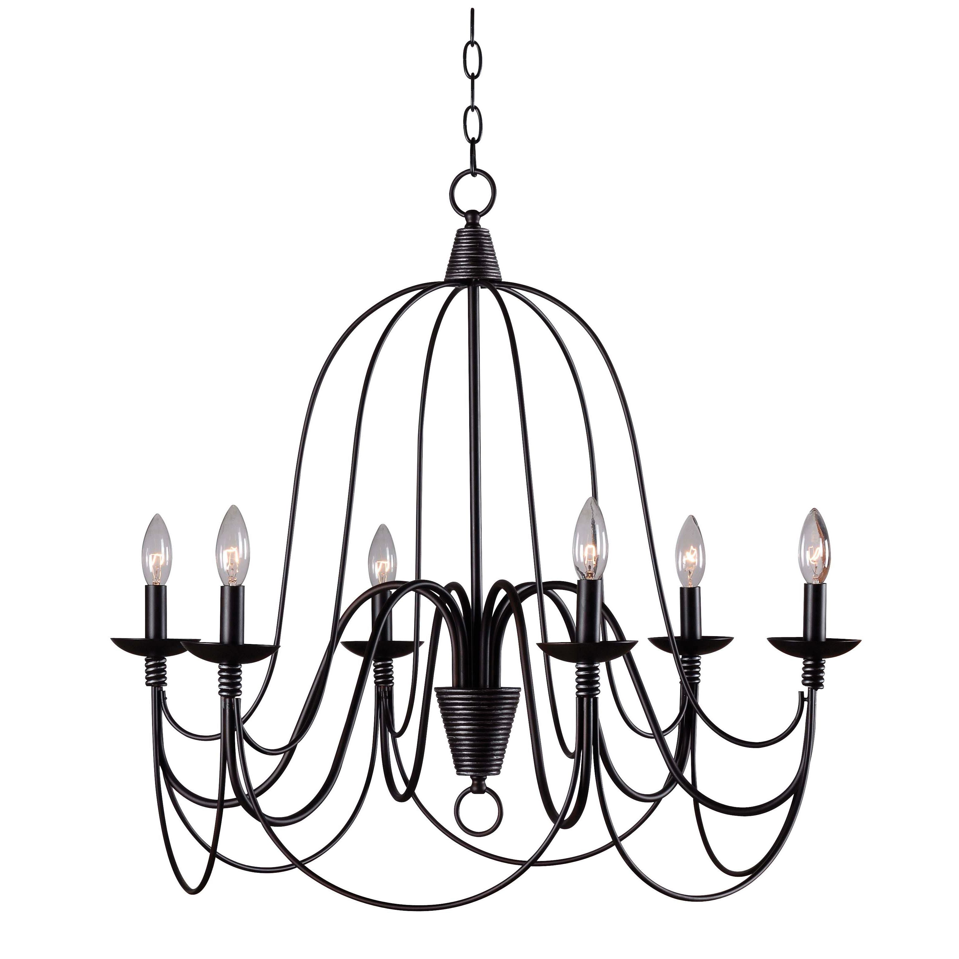 Red Barrel Studio Big Sky 6 Light Candle Style Chandelier