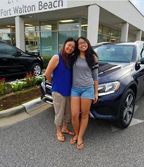 This is Rui Huang & her daughter Michelle Liu. And this is Michelle's brand-new 2017 Mercedes-Benz GLC300. This is her first car and we couldn't be more thrilled for her! Congratulations! #ZTMotorsFWB #TheBestOrNothing