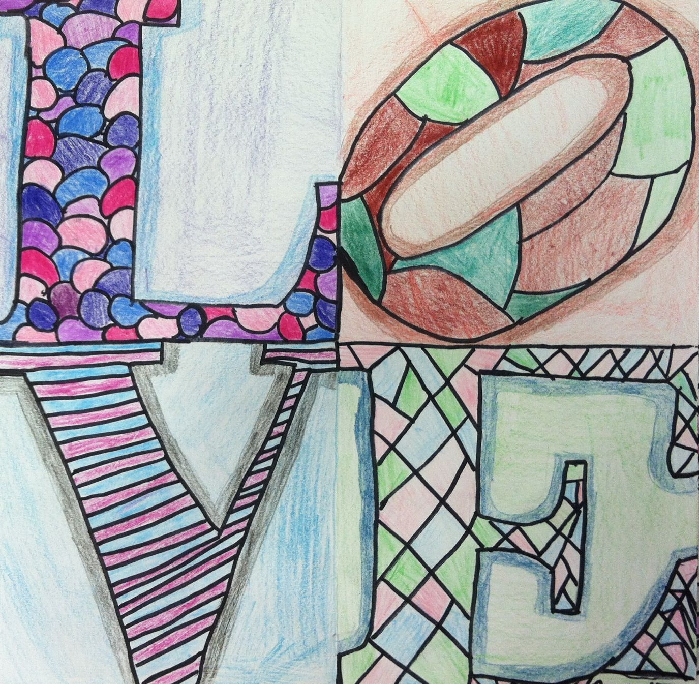 Drawings Inspired By Robert Indiana S Infamous Love Sculpture
