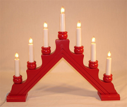 Swedish Candelabra Karin 7 Red Swedish Christmas Decorations Swedish Christmas Scandinavian Gift