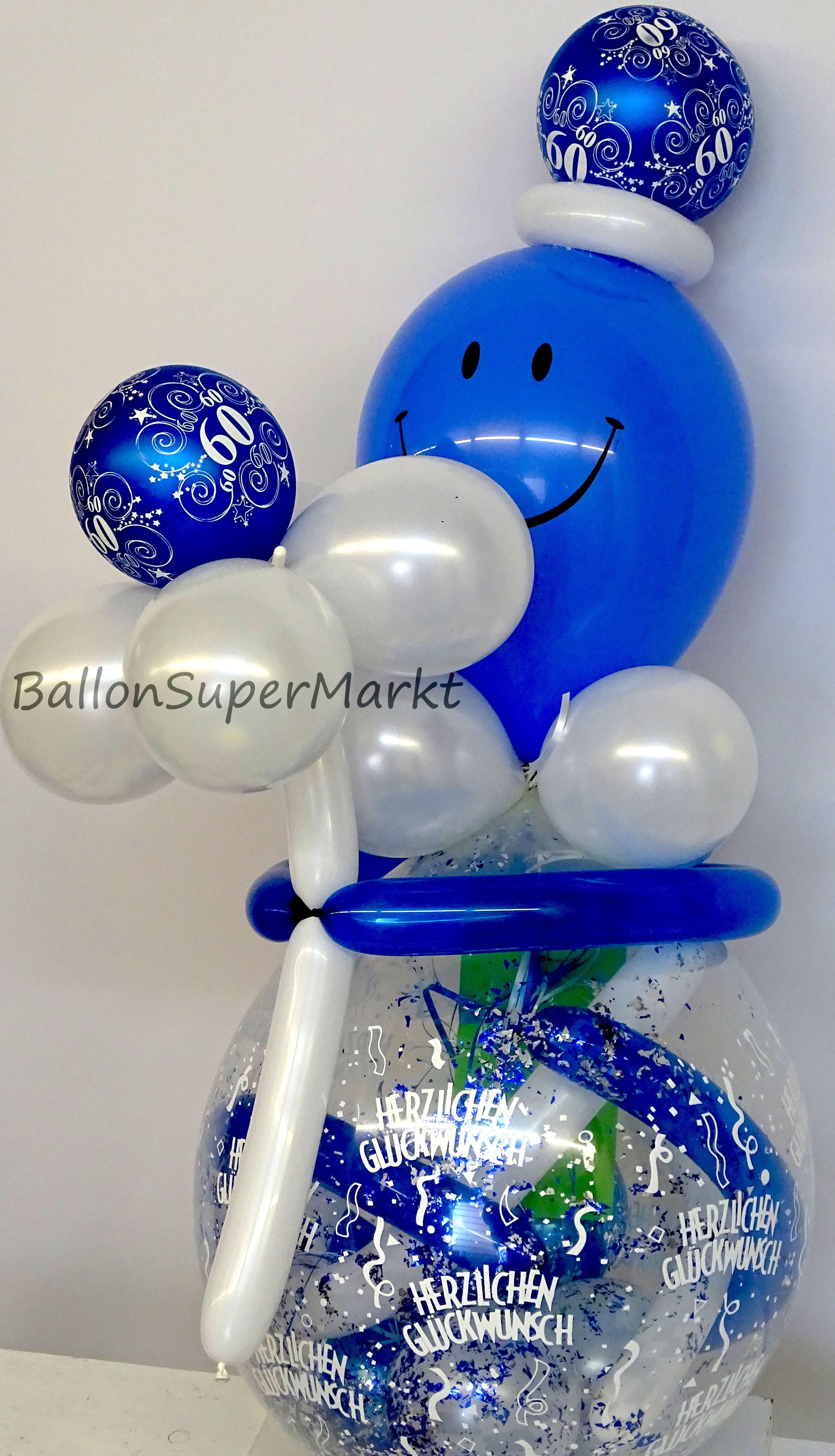 Geschenk Im Ballon Zum 60 Geburtstag Luftballons Geschenke