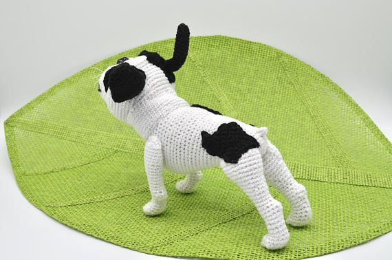This listing is for a Crochet Pattern only NOT a finished item. Language: ENGLISH The Pattern is for intermediate/advanced level in crocheting. French Bulldog is approx. 18cm. long and 13cm. tall incl. ears. The pattern is very easy to modify. Pattern provide detailed step-by-step instruction