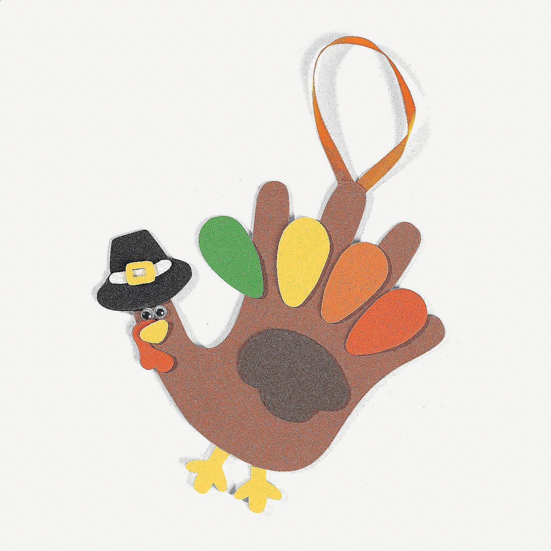 Handprint Turkey Craft Kit | Oriental Trading
