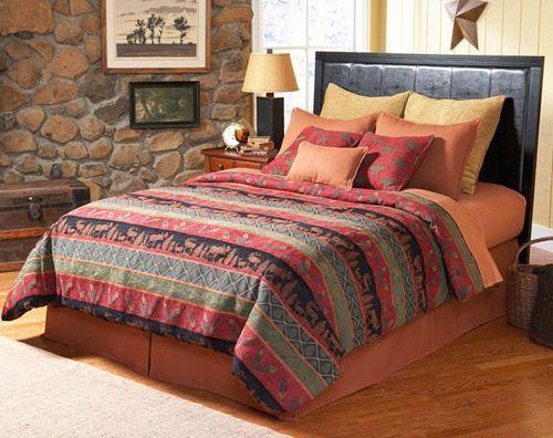Southwest style bedding elk river southwest comforter for Southwest beds