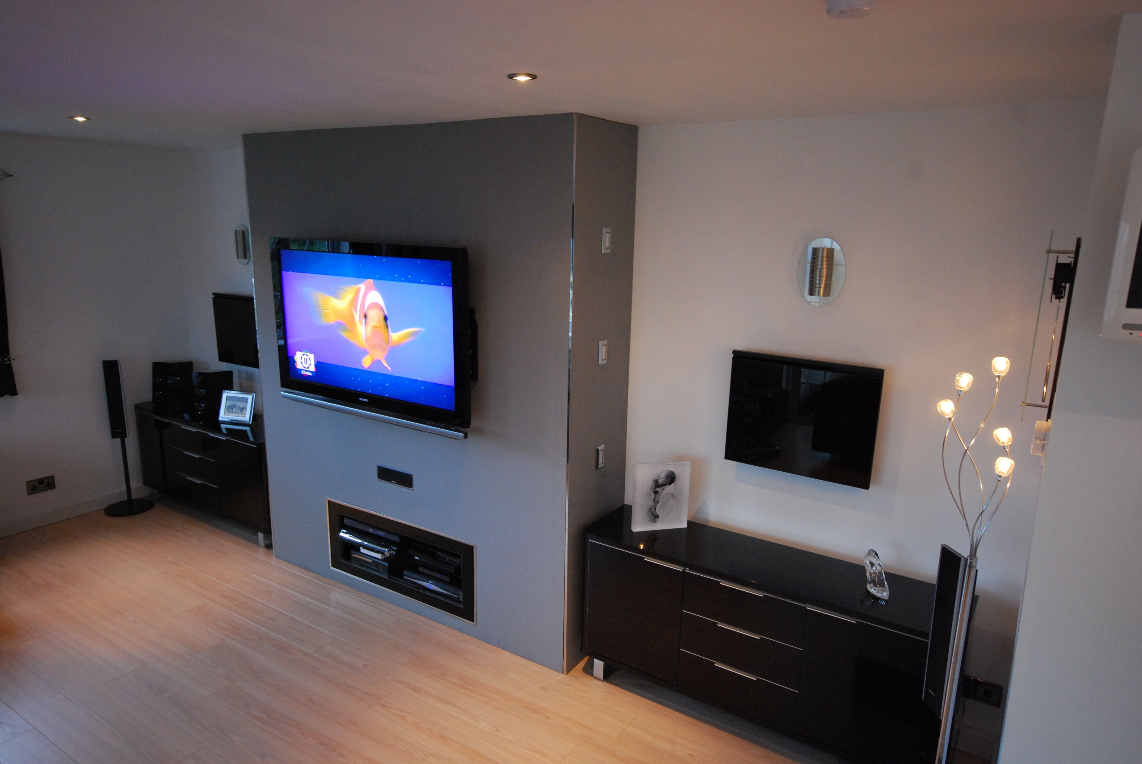 Lounge Built In TV Sound System Unit LED Mood Changing