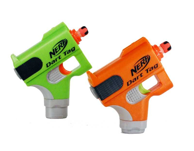 A boy holding NERF DART TAG TAG OR BE TAGGED! SPEEDSWARM Blaster