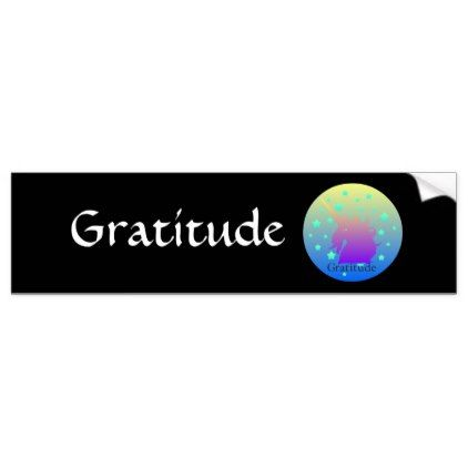 Ombre unicorn with word gratitude bumper sticker diy cyo customize create your own personalize