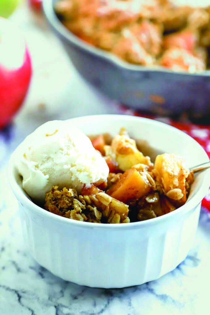 Apple crisp without oats, with a streusel topping that's ...