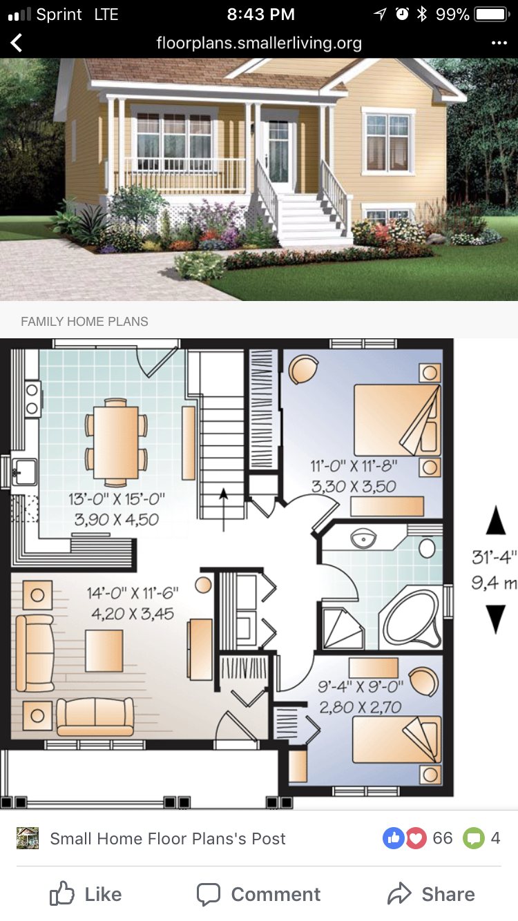 Pin by Elaine Kubsch on Small Houses Modern house plans
