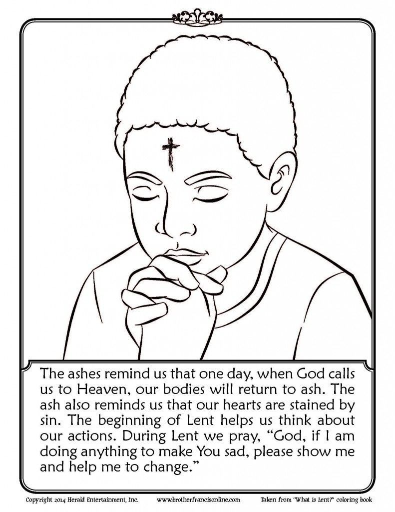 Impressive Design Lent Coloring Pages Printable Best Of Ash Wednesday Activities Printable Coloring Page Ash Wednesday Catholic Lent Lent