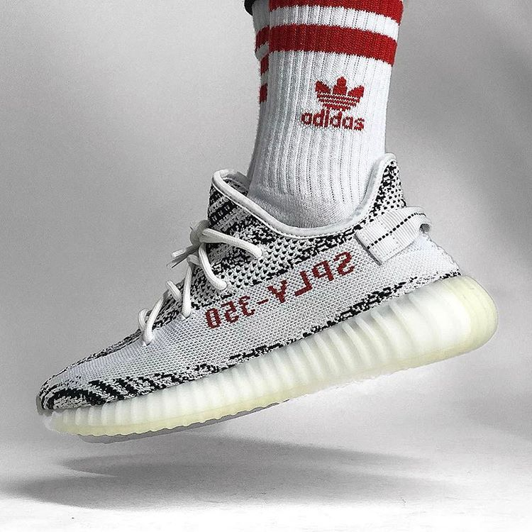 "adidas Yeezy Boost 350 V2 ""Zebra""    themonniker  WDYWT for on-feet and  model photos  WDYWTgrid for outfit lay down photos 0cd5fe2b5"